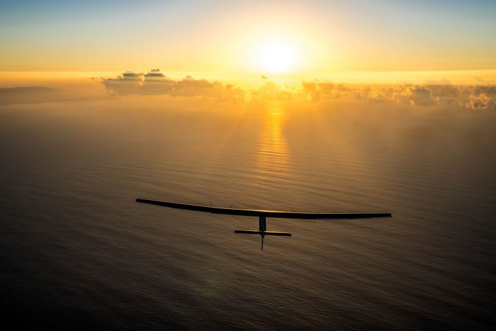 Solar Impulse undertakes a maintenance flight in Hawaii, United